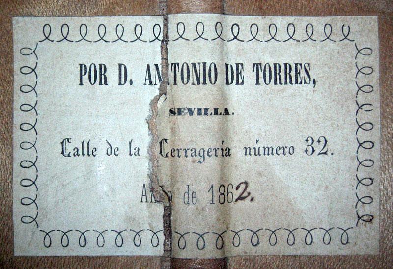 An 1862 Antonio De Torres with a Spruce top